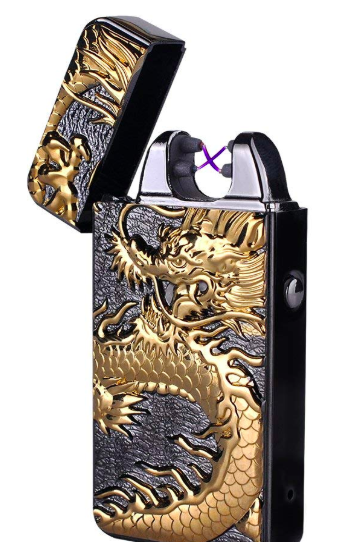 DaLanZom Chinese Dragon USB Rechargeable Windproof Electric